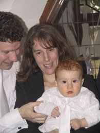 Andrew with his proud parents just after his christening