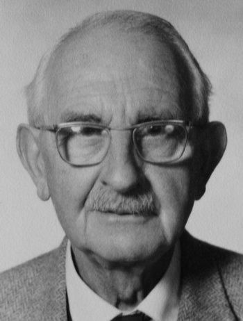 Photograph of Marcel Leyder taken 1974, when he was Eighty-five