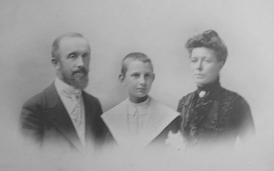 Photograph of my Father as a boy with my Great Uncle and his Wife