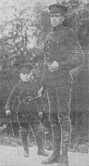 1915 picture of John Bruce and Billy Nevard copied from The Vancouver Daily Province Newspaper