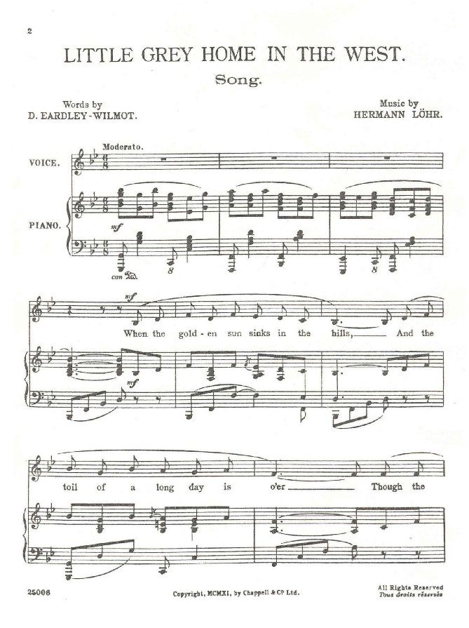 Page Two - Music Sheet One