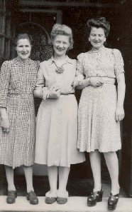 My Mother, Marthe and my sister, Maud outside our front door in Finchley